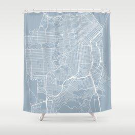 San Francisco Map, USA - Slate Shower Curtain