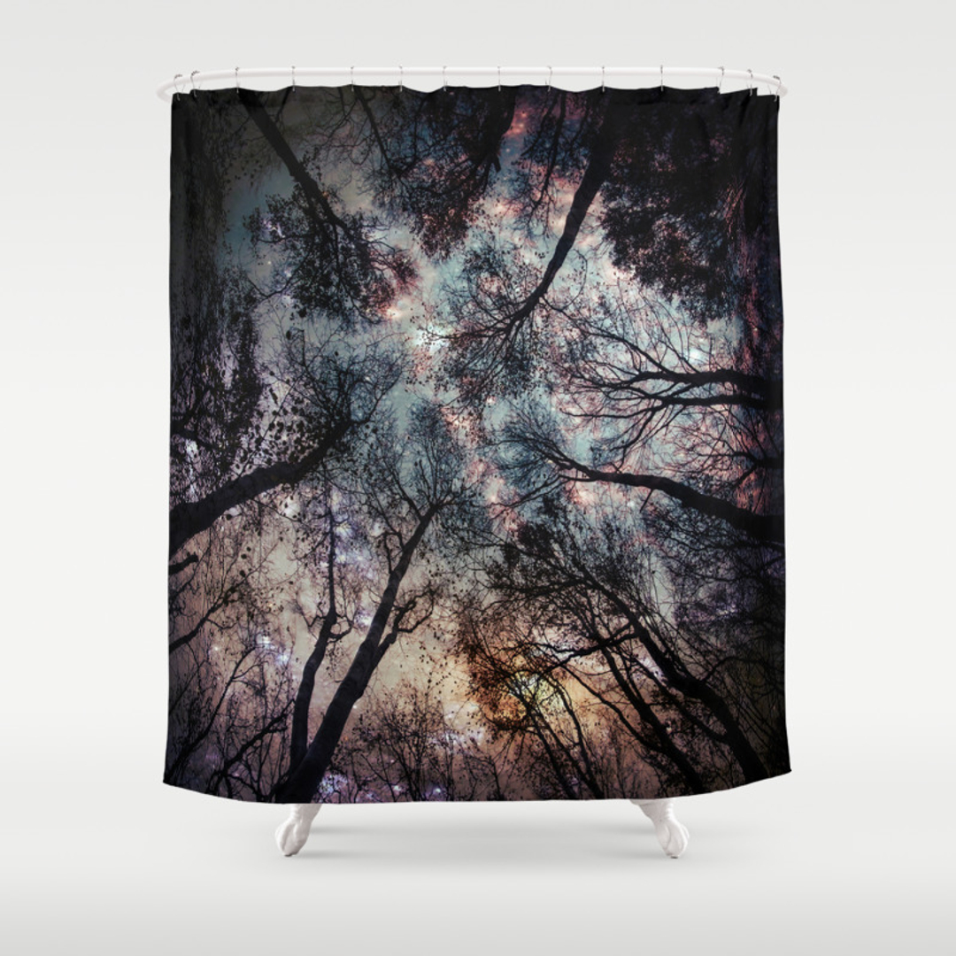 Blue and Dorm Shower Curtains | Society6