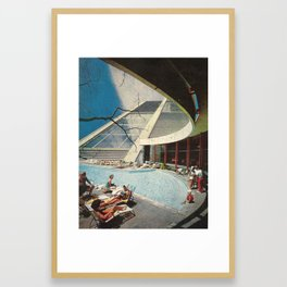The flying Architecture Framed Art Print