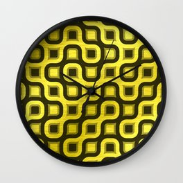 Gold Collection K12 - Truchet Tiling Wall Clock