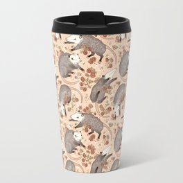 Opossum and Roses Travel Mug