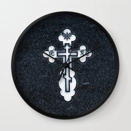 Russian Greek Orthodox Cross Wall Clock