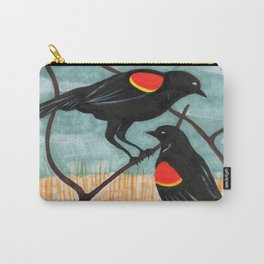 Red Winged Blackbirds in Marsh Carry-All Pouch