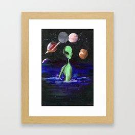 alien alone Framed Art Print