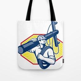 Power Lineman Repairman Carry Electric Pole Tote Bag