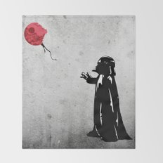 Little Vader - Inspired by Banksy Throw Blanket
