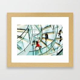 Staircase Rush Framed Art Print
