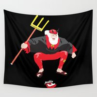devil Wall Tapestries featuring Tour Devil by Pedlin