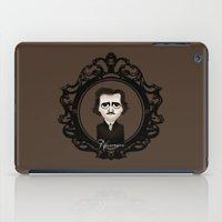 edgar allan poe iPad Cases featuring Edgar Allan Poe by Designs By Misty Blue (Misty Lemons)