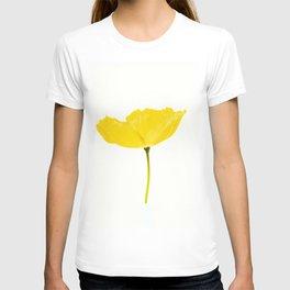 Yellow Poppy White Background #decor #society6 #buyart T-shirt