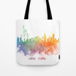 Colored skyline New York Tote Bag