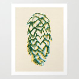 Hop Drunk Art Print