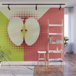 Apple half pop art Wall Mural