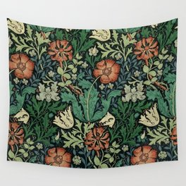 William Morris Compton Floral Art Nouveau Pattern Wall Tapestry