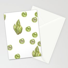 green bushes and bubbles Stationery Cards