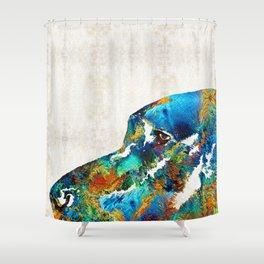 Colorful Dog Art - Loving Eyes - By Sharon Cummings Shower Curtain