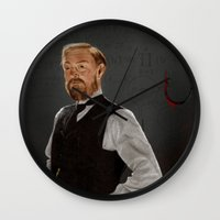 moriarty Wall Clocks featuring Moriarty lives by San Fernandez