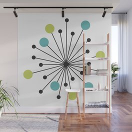Atomic Age Nuclear Motif — Mid Century Modern Wall Mural