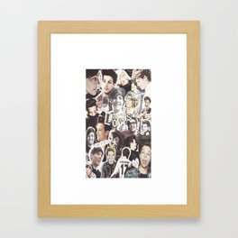 ONE DIRECTION LOUIS TOMLINSON - COLLAGE1 Framed Art Print