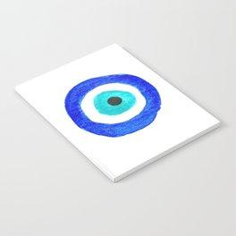 Single Evil Eye Amulet Talisman Ojo Nazar - on white Notebook