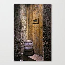 The Wine Cellar Door Canvas Print