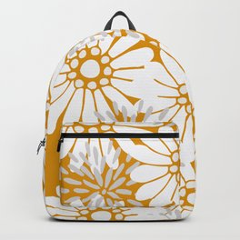 Summer Flowers Harvest Gold Backpack