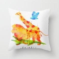 Lion & Friends Throw Pillow