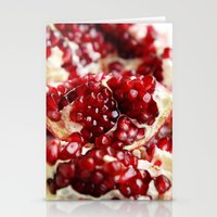 pomegranate Stationery Cards featuring Pomegranate  by Libertad Leal Photography