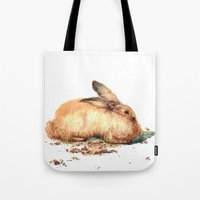 bunny Tote Bags featuring Bunny by Ivanushka Tzepesh
