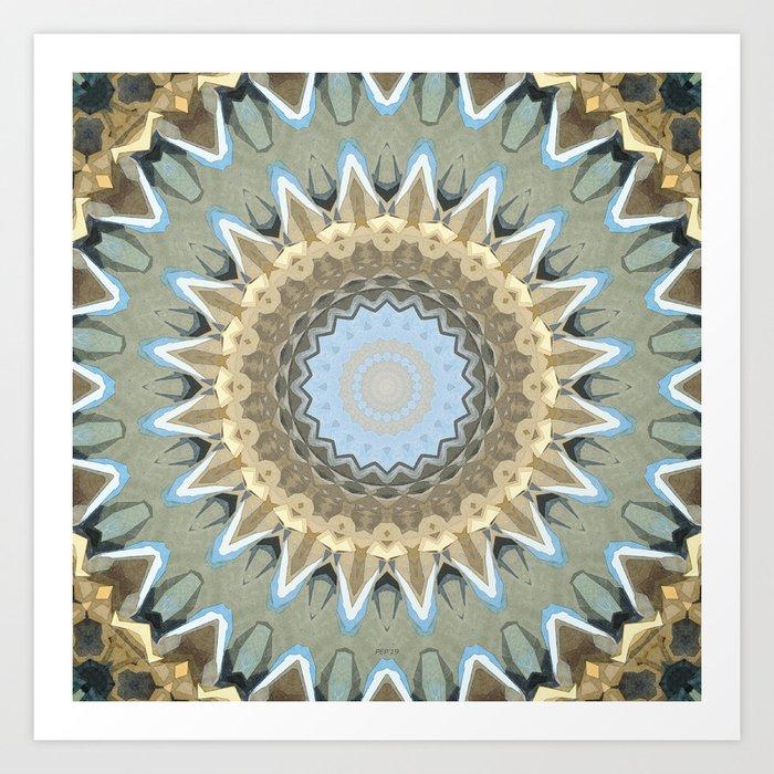 Earth Tones Mandala Art Print
