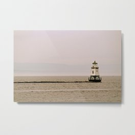 Lighthouse on Lake Champlain Metal Print