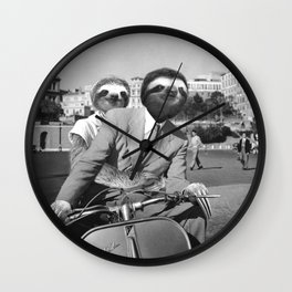 Sloth in Roman Holiday Wall Clock