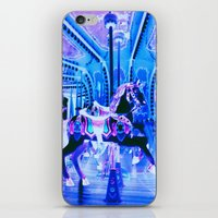 carousel iPhone & iPod Skins featuring Carousel by WhimsyRomance&Fun