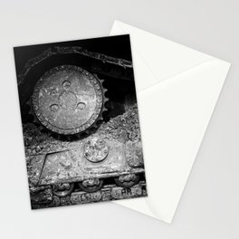 Ivan Caterpillar Track Black and White Stationery Cards