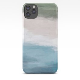 Ocean Aqua Blue Green Grass Beige Sand Abstract Tropical Hawaii Aerial Wall Art, Painting iPhone Case