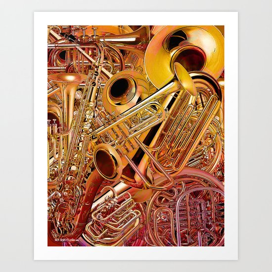 Brass wall Art Print