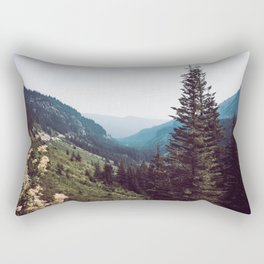 Mountain Morning Mist Nature Photography Rectangular Pillow