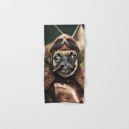 Pete the Pilot Pug Hand & Bath Towel