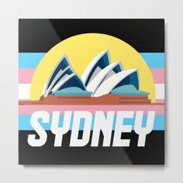 Sydney Trans Transgender Pride Lgbt gay Metal Print
