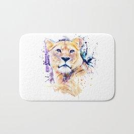 New Lioness Portrait Bath Mat