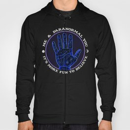 Me & Paranormal You - James Roper Design - Palmistry (white lettering) Hoody