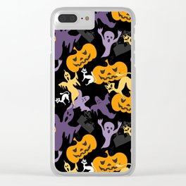Halloween pattern Clear iPhone Case