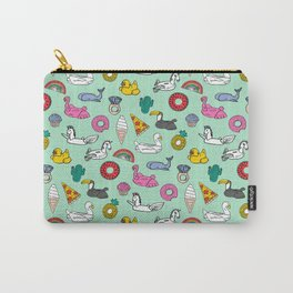 Pool floats fun summer holiday pool party pattern Carry-All Pouch