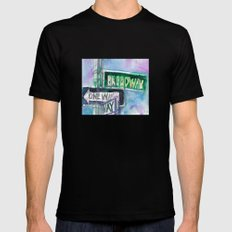 Broadway Sign MEDIUM Black Mens Fitted Tee