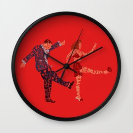 I'll never tell typography Wall Clock