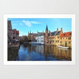 Belgium, City Canal 2 Art Print