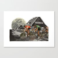 tour de france Canvas Prints featuring Le tour de France by a wardrobe in the space