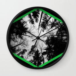 Grey forest Wall Clock