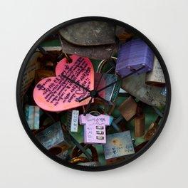 Love Locks No. 2 Wall Clock
