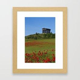 Poppy Field Penshaw Monument Framed Art Print